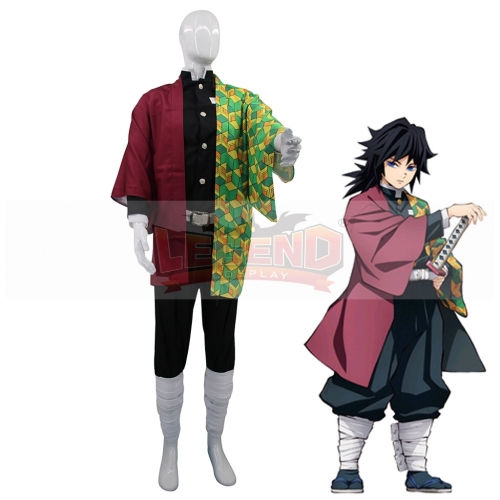 Cosplaylegend Anime Demon Slayer Cosplay Costumes Giyuu Tomioka Cosplay Costume Halloween Carnival Party Kimetsu No Yaiba Cosplay