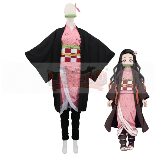 Cosplaylegend Anime Demon Slayer Cosplay Costumes Nezuko Kamado Cosplay Costume Halloween Carnival Party Kimetsu No Yaiba Cosplay Costume