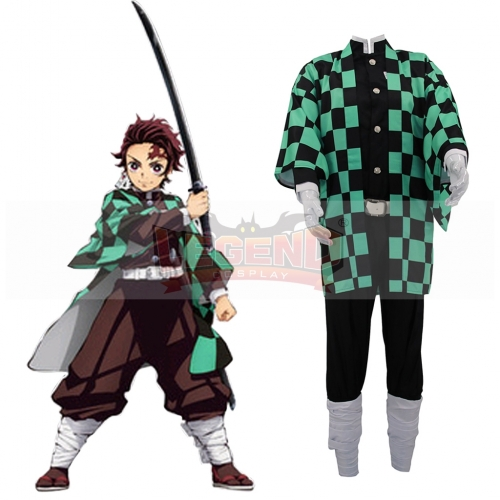 Cosplaylegend Anime Demon Slayer Cosplay Costumes Tanjirou Kamado Cosplay Costume Halloween Carnival Party Kimetsu No Yaiba Cosplay