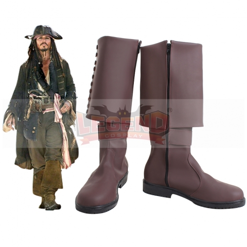 Cosplaylegend Pirates of the Caribbean 5 shoes Captain Jack Sparrow Cosplay Shoes