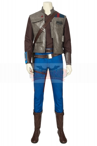 (with shoes) Movie Star Wars 9 Cosplay Costume The Rise Of Skywalker Finn Adult Halloween Party Custom Men Suit