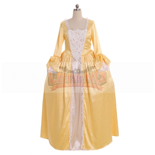 Cosplaylegend 18th Century Marie Antoinette Rococo Ball Gown Dress England Court Party Carnival Yellow Dress Girls Women Dress