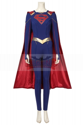 (Without Shoes) Supergirl Cosplay Costume Fancy Halloween Costumes Kara Zor -El Outfit Superhero Jumpsuit