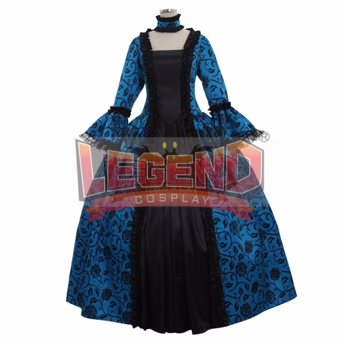 Cosplaylegend Renaissance Medieval Carnivale Gown Gothic Victorian Masquerade Long Dress Rococo Blue dress