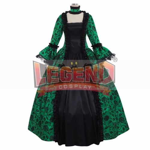 Cosplaylegend Renaissance Medieval Carnivale Gown Gothic Victorian Masquerade Long Dress Rococo Green dress