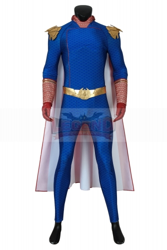 (Without Shoes) The Boys Season 1 Costume The Homelander Cosplay Blue Jumpsuit Zentai Adult Men Superhero Halloween Carnival Outfit