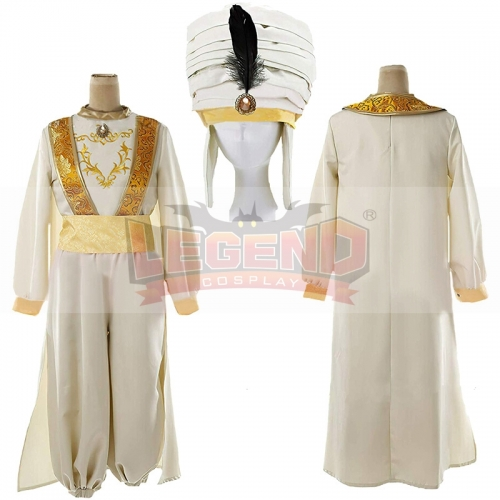 Cosplaylegend Aladdin Lamp Prince Aladdin Costume outfit For Adult Man Halloween Party Movie Cosplay Costume