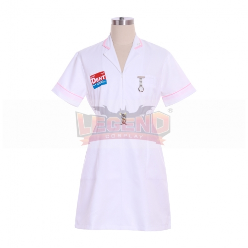 Cosplaylegend Dark Knight Joker Nurse Dress Uniform Halloween Nurses Outfit Costumes Custom Made