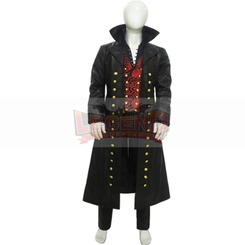 Cosplaylegend Once Upon a Time Killian Jones Captain Hook Cosplay Costume Pirate Hook outfit Cosplay Halloween cosplay Custom Made
