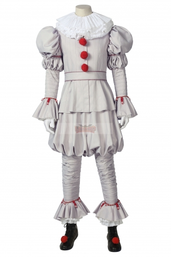 Cosplaylegend It chapter two Pennywise Cosplay Costume IT Dancing Clown Pennywise suit fancy Halloween Terror cosplay costume with shoes