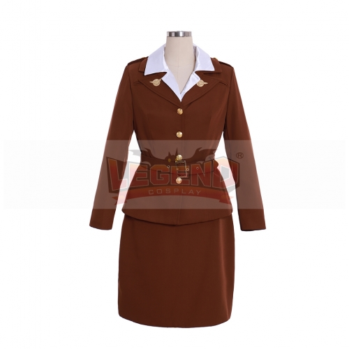 Cosplaylegend Captain America Agent Peggy Carter Suit Cosplay Costume