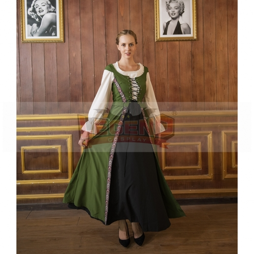 Cosplaylegend Womens Medieval Dress Renaissance Pirate Peasant Viking Wench Dress Cosplay Costume Maid Dress