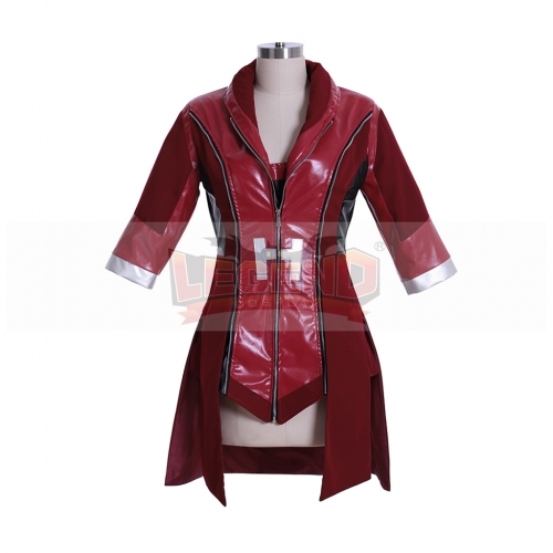 Cosplaylegend Captain America:Civil War Scarlet Witch Costume Avengers Wanda Maximoff red jacket custom made