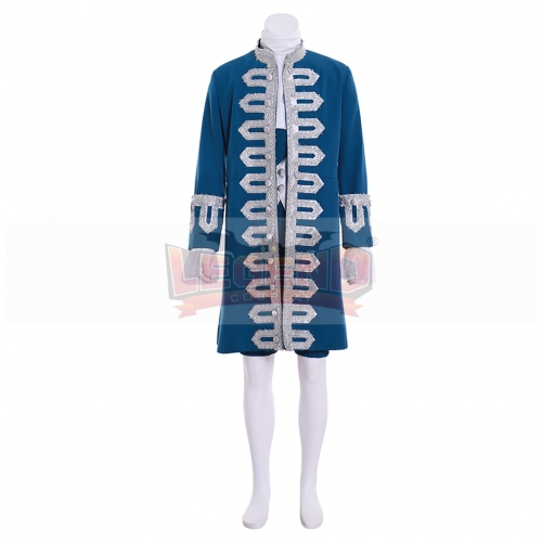 Cosplaylegend 18th Century Mens Rococo Outfit Cosplay costume Blue Renaissance suit custom made