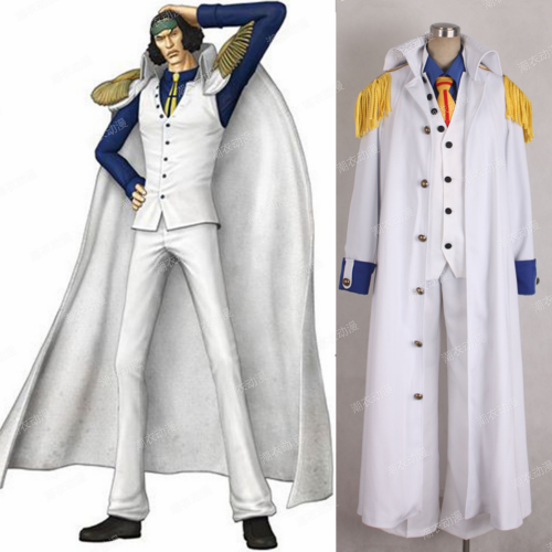 Cosplaylegend Anime One piece Aokiji Kuzan Navy Admiral Uniform Cosplay Costume adult Men Halloween Outfit