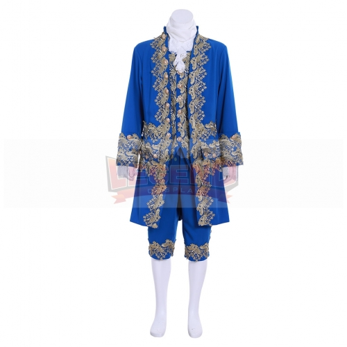 Cosplaylegend 18th British Prince Costume Medieval Men Costume Blue Suit Marie Antoinette Costume Custom Made