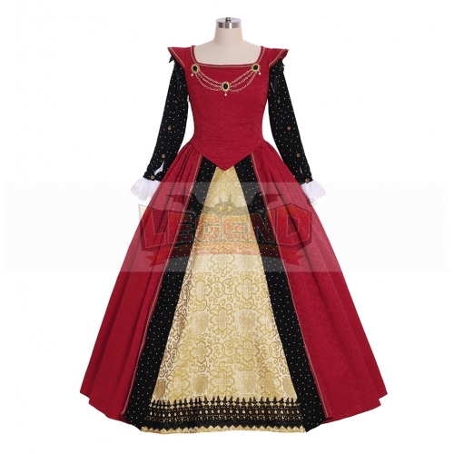 Cosplaylegend Victorian Queen Elizabeth Tudor Period Gothic Faire Dress Medieval Princess Red Fancy Dress Custom Made