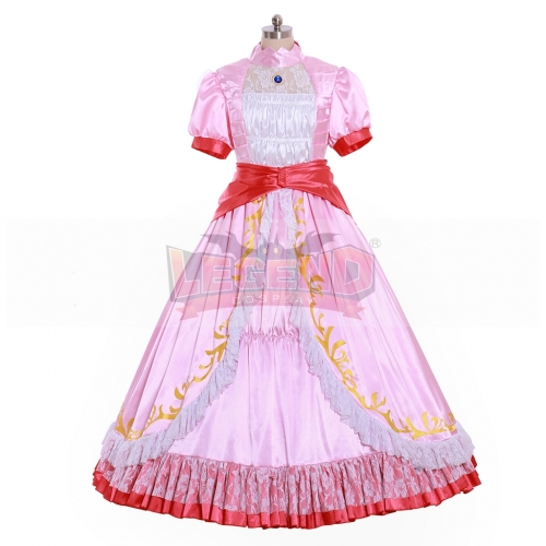 Cosplaylegend Super Mario Princess Peach Dress Cosplay Costume For Adult Ball Gown Dress Halloween Fancy Costume dress