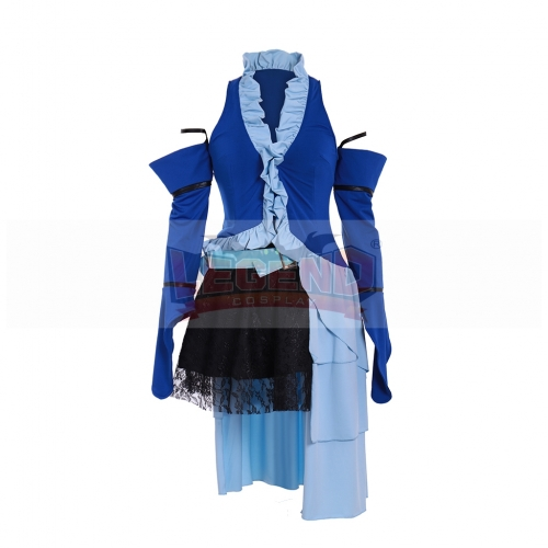 Cosplaylegend Final Fantasy X Yuna Lenne Song Cosplay Costume  Women Halloween Suit Custom Made